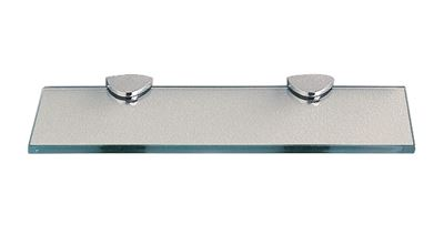 MILLER CLASSIC CHROME BATHROOM 300mm STRAIGHT CLEAR GLASS SHELF, 291020