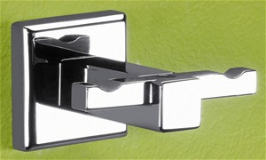 BATHROOM ORIGINS GEDY COLORADA CHROME BATHROOM DOUBLE ROBE HOOK, 6928-13