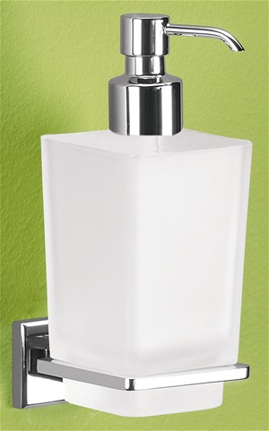 BATHROOM ORIGINS GEDY COLORADA CHROME BATHROOM FROSTED GLASS SOAP DISPENSER, 6981-13