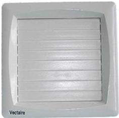 VECTAIRE 'A' MODULAR WHITE AUTOMATIC, HUMIDISTAT, CORD, TIMER 10cm BATHROOM/KITCHEN AXIAL EXTRACTOR FAN, A10/4HCTA