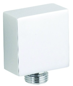HUDSON REED SHOWER EXTRAS CHROME SQUARE METAL OUTLET ELBOW, A3245
