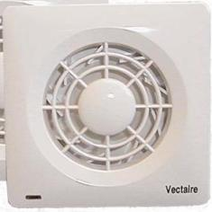 VECTAIRE 'AMF' CENTRIFUGAL WHITE CORD or REMOTE 10cm BATHROOM/KITCHEN EXTRACTOR FAN, AMF100C