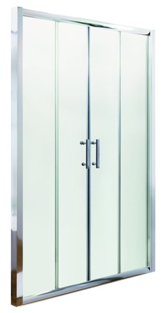 ULTRA PREMIER BATHROOM COLLECTION PACIFIC POLISHED CHROME DOUBLE SLIDING SHOWER DOOR 1400mm, AQSLD14