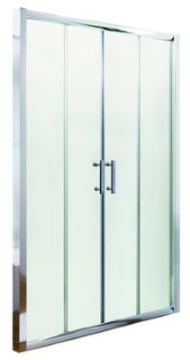 ULTRA PREMIER BATHROOM COLLECTION PACIFIC POLISHED CHROME DOUBLE SLIDING SHOWER DOOR 1700mm, AQSLD17