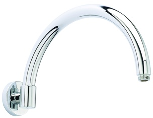 HUDSON REED CHROME FIXED WALL MOUNTED CURVED ARM, ARM06