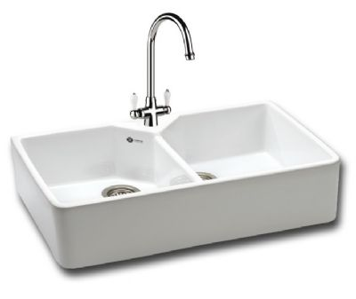 CARRON PHOENIX BELFAST 200 WHITE CERAMIC SINK, 200