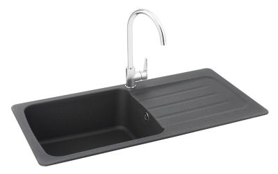 SPECIAL OFFER CARRON PHOENIX COLUMBA 100 INSET GRAPHITE SYNTHETIC SINK, 100