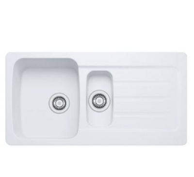 SPECIAL OFFER CARRON PHOENIX COLUMBA 150 INSET ARCTIC WHITE SYNTHETIC SINK, 150