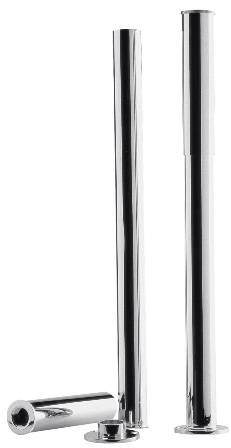 HUDSON REED CHROME BATH LEGS with ADJUSTABLE SHROUDS, DA314