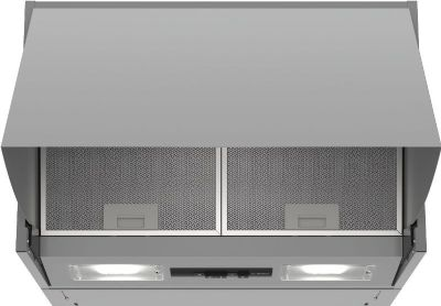 BOSCH SERIE 2 METALLIC SILVER INTEGRATED EXTRACTOR 60cm WIDE HIGH EXTRACTION RATE, DEM66AC00B