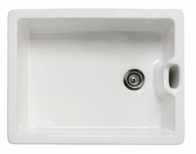 RAK GOURMET SINK 8 - BELFAST STYLE with WEIR OVERFLOW WHITE SINGLE BOWL CERAMIC SINK, GOSINK8
