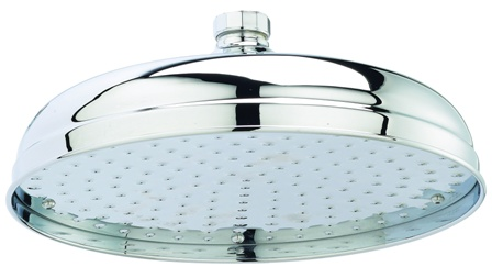HUDSON REED 8 inch APRON CHROME ROUND FIXED SHOWER HEAD, HEAD21