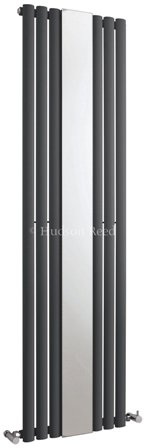 HUDSON REED REVIVE ANTHRACITE VERTICAL SINGLE PANEL DESIGNER RADIATOR with MIRROR, HLA78
