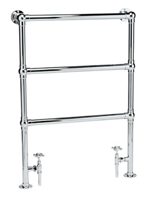 HUDSON REED COUNTESS CHROME BATHROOM TRADITIONAL TOWEL WARMER, HT301