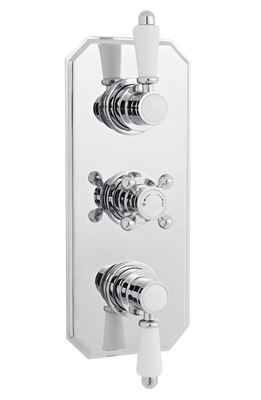 CLEARANCE HUDSON REED TRADITIONAL CHROME THERMOSTATIC TRIPLE CONCEALED SHOWER VALVE with 2 WAY DIVERTER, ITY317