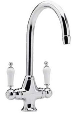 CLEARANCE ULTRA PREMIER KITCHEN CHROME KITCHEN MONO TRADITIONAL CRUCIFORM LEVER SINK MIXER TAP, KB304