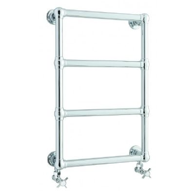 HUDSON REED FARRINGDON WALL MOUNTED CHROME BATHROOM TRADITIONAL TOWEL WARMER, LDR005
