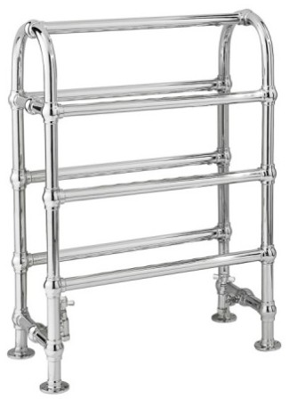HUDSON REED ADELAIDE FLOOR MOUNTED CHROME BATHROOM TRADITIONAL TOWEL WARMER, LDR009