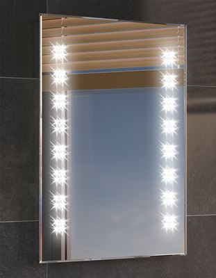 KIRBY SEBASTIAN GALACTIC BATHROOM ILLUMINATED RECTANGULAR 'LED' MOTION DETECTOR BACKLIT MIRROR, ML2101 with DEMISTER PAD