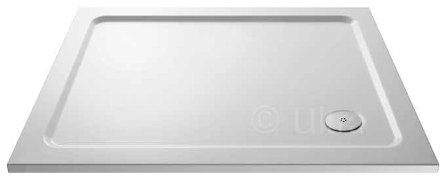 HUDSON REED WHITE PEARLSTONE 1000mm x 700mm x 40mm P40 RECTANGULAR SHOWER TRAY, NTP021