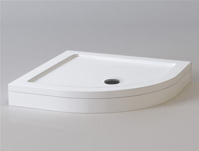 KIRBY SEBASTIAN STONE RESIN 800mm x 800mm QUADRANT SHOWER TRAY with LEG & PANEL SET, Q0808SET