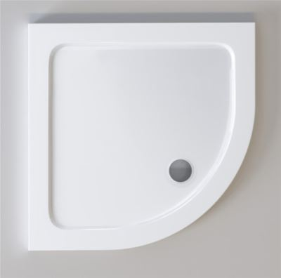 KIRBY SEBASTIAN STONE RESIN 1000mm x 1000mm x 35mm QUADRANT SHOWER TRAY, Q1010L
