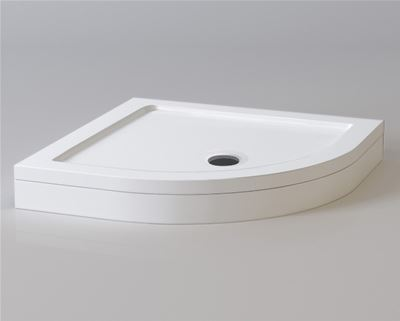 KIRBY SEBASTIAN STONE RESIN 1000mm x 1000mm QUADRANT SHOWER TRAY with LEG & PANEL SET, Q1010SET