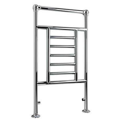 KIRBY SEBASTIAN VICTORIA PREMIUM  CHROME BATHROOM TRADITIONAL TOWEL RAIL/WARMER, RT04