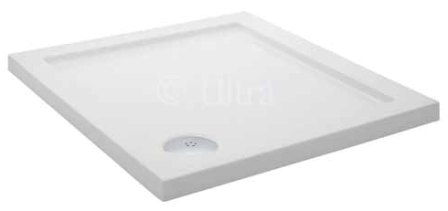 HUDSON REED WHITE PEARLSTONE 1000mm x 1000mm x 45mm P45 SQUARE SHOWER TRAY, NTP015