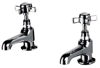 CLEARANCE CASSELLIE TIME CHROME TRADITIONAL BATH TAPS, TIM005