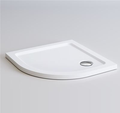 KIRBY SEBASTIAN LIGHT WEIGHT PU 800mm x 800mm x 40mm QUADRANT SHOWER TRAY, TT8080Q