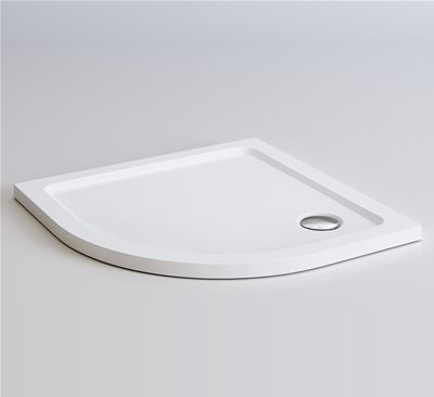 KIRBY SEBASTIAN LIGHT WEIGHT PU 900mm x 900mm x 40mm QUADRANT SHOWER TRAY, TT9090Q