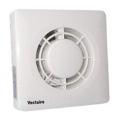 VECTAIRE 'A' MODULAR WHITE HUMIDISTAT, CORD, TIMER 10cm BATHROOM/KITCHEN AXIAL EXTRACTOR FAN, A10/4HCT