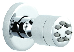 CLEARANCE ULTRA PREMIER SHOWER EXTRAS CHROME ROUND BODY JET, A3084