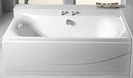 CARRON ALPHA WHITE 1800mm x 800mm x 5mm DOUBLED ENDED BATH, 23.4111