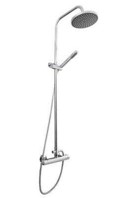 CLEARANCE ULTRA PREMIER ROUND CHROME EXPOSED THERMOSTATIC BAR SHOWER VALVE with KIT, JTY375