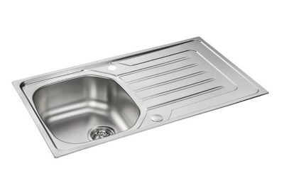 CLEARANCE CARRON PHOENIX ONDA 90 INSET POLISHED STAINLESS STEEL SINK, 90